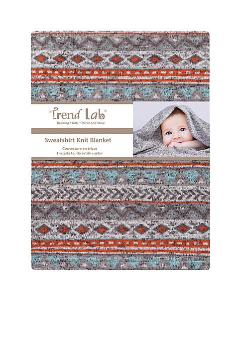 Trend Lab® Aztec Sweatshirt Knit Baby Blanket