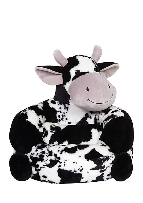 Childrens Plush Cow Character Chair