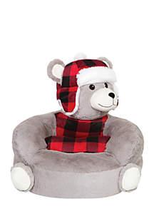 Trend Lab® Children's Plush Buffalo Check Bear Character Chair