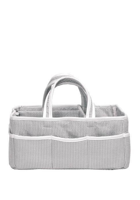Trend Lab® Baby Gingham Seersucker Gray Storage Caddy