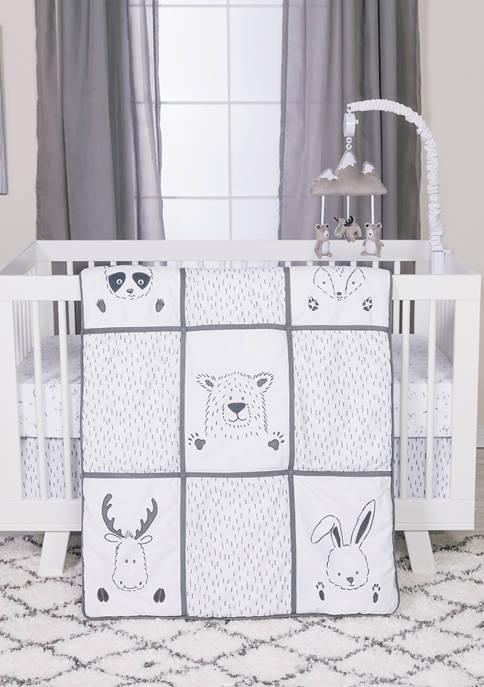 Trend Lab® Baby 3 Piece Peek-a-Boo Forest Crib