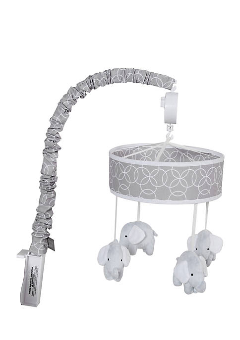 Circles Gray Musical Crib Mobile
