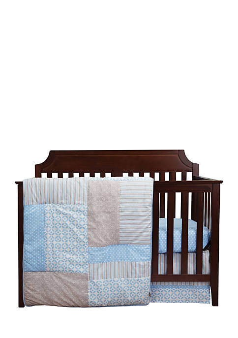 Trend Lab® Patches and Prints Three-Piece Crib Bedding