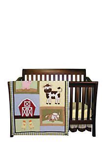 Baby Barnyard 3 Piece Crib Bedding Set - Online Only