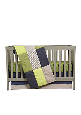 Perfectly Preppy 3-Piece Crib Bedding Set
