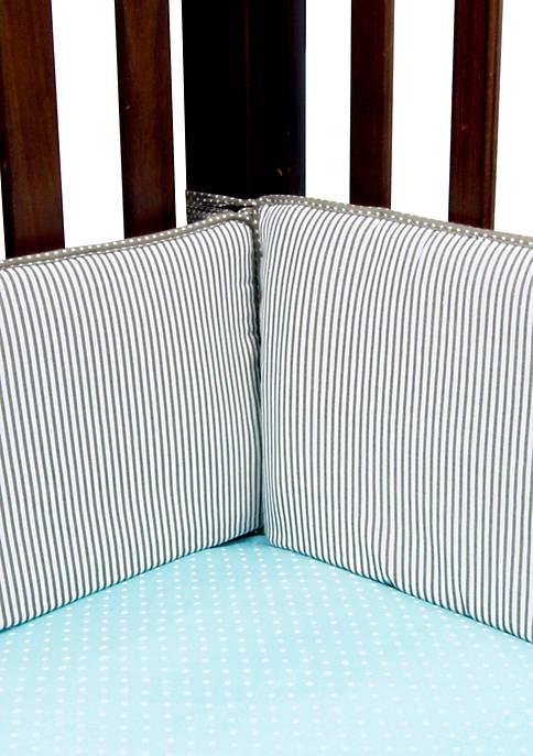 Trend Lab® Cocoa Mint Crib Bumpers