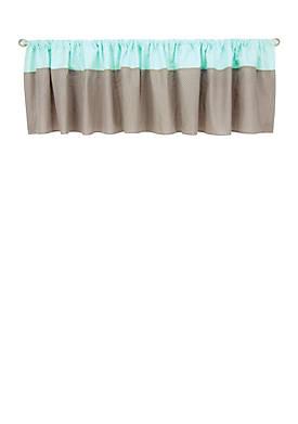 Cocoa Mint Window Valance