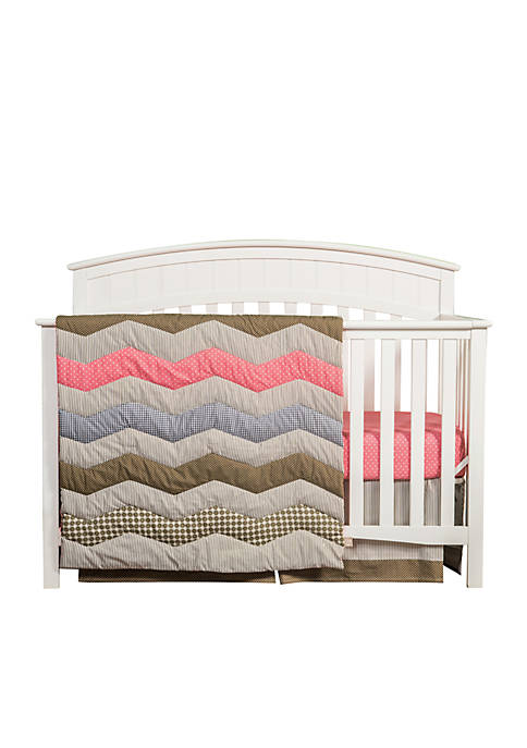 Trend Lab® Cocoa Coral 3 Piece Crib Bedding