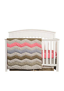 Cocoa Coral 3 Piece Crib Bedding Set - Online Only