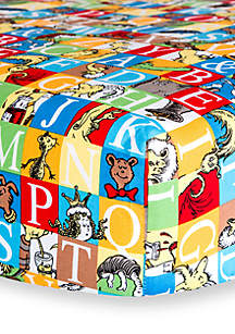 Dr. Seuss™ Alphabet Seuss Squares Fitted Crib Sheet