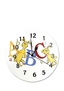 Dr. Seuss ABC Wall Clock - Online Only