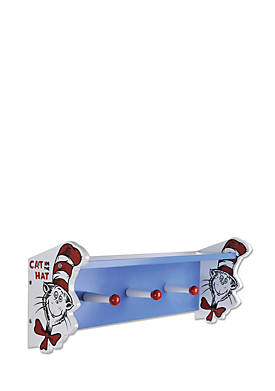 Dr. Seuss The Cat in the Hat Wall Shelf with Pegs