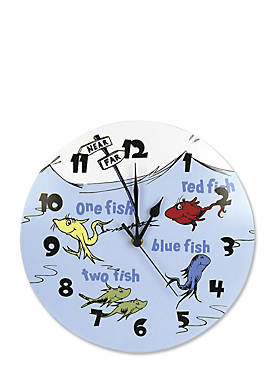 Dr. Seuss™ One Fish, Two Fish Wall Clock
