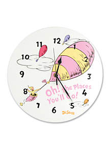 Dr. Seuss Oh, The Places You'll Go Pink Wall Clock - Online Only