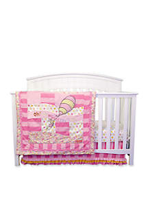 Dr. Seuss™ Oh, The Places You'll Go Pink 3-Piece Crib Bedding Set