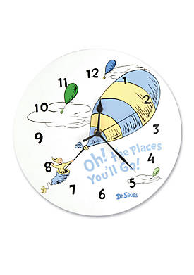 Dr. Seuss™ Oh, The Places Youll Go! Blue Wall Clock