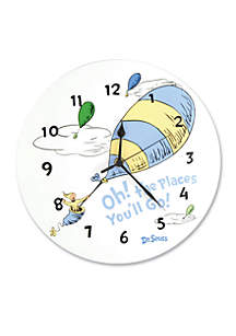 Dr. Seuss™ Oh, The Places You'll Go! Blue Wall Clock