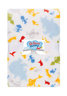 Dr. Seuss Friends Plush Baby Blanket