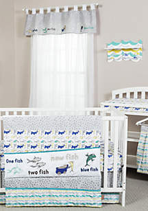 Dr. Seuss New Fish 5-Piece Crib Bedding Set