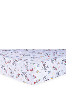 Dr. Seuss Classic Cat in the Hat Fitted Crib Sheet