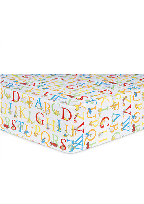 Trend Lab® Dr. Seuss ABC Fitted Crib Sheet