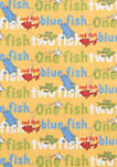 Dr. Seuss by Trend Lab One Fish, Two Fish Titles Fitted Crib Sheet