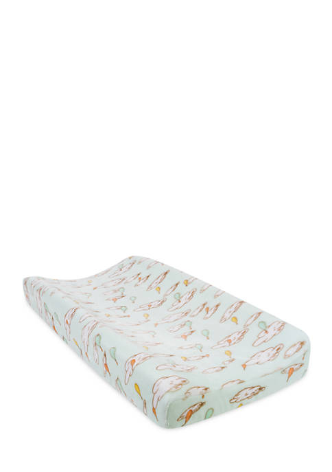 Seuss Oh The Places Youll Go Balloons Changing Pad Cover Trend Lab Dr Orange//Yellow//Green and White