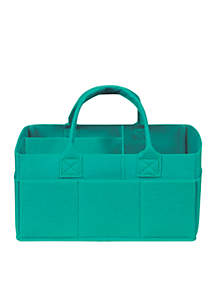 Teal Felt Storage Caddy