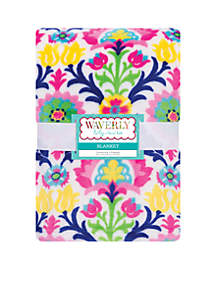Waverly Baby by Trend Lab Santa Maria Plush Baby Blanket