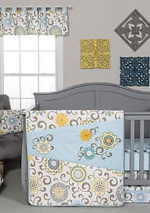Pom Pom Spa 4 Piece Crib Bedding Set