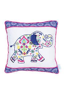 Waverly Baby by Trend Lab Santa Maria Henna Elephant Decorative Pillow