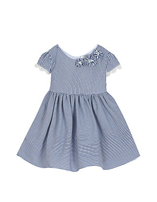 d834a976df9 Rare Editions. Rare Editions Baby Girls Navy White Stripe Cotton Dress