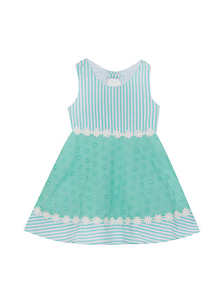 4c37b76ab6d5 Rare Editions. Rare Editions Baby Girls Mint White Seersucker Dress