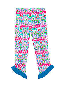 Jumping Fences by Rare Editions Baby Girls Printed Knit Leggings