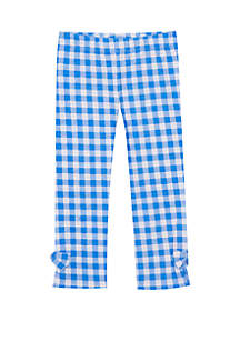 Jumping Fences by Rare Editions Baby Girls Blue Check Leggings