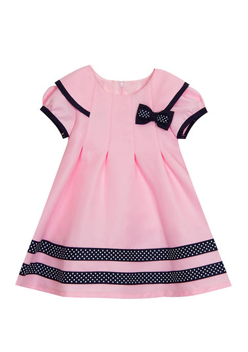 Baby Girls Nautical Dress and Panty Set with Hat