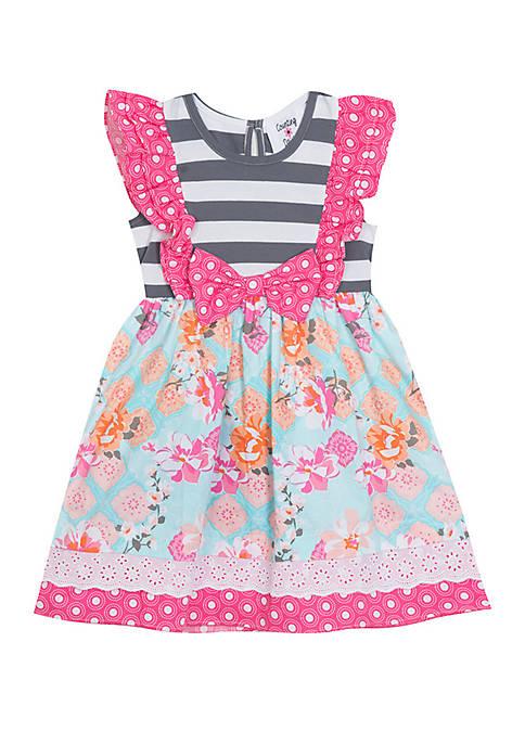 Rare Editions Toddler Girls Pink Grey Mixed Media