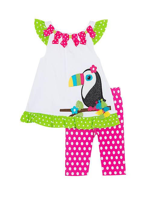 Toddler Girls Toucan Capri Set