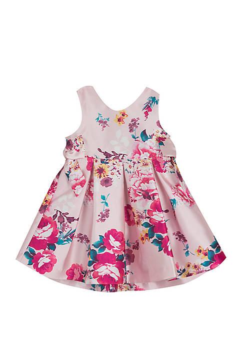 Rare Editions Toddler Girls Floral Pink Social Dress