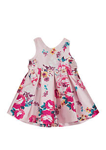Rare Editions Toddler Girls Floral Pink Social Dress