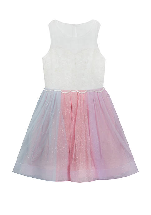 Rare Editions Toddler Girls Multi Color Glitter Social