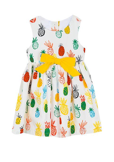 Toddler Girls Pineapple Cotton Dress
