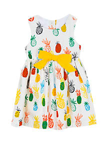 Rare Editions Toddler Girls Pineapple Cotton Dress