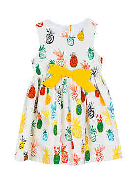 80726934eb Rare Editions Toddler Girls Pineapple Cotton Dress ...
