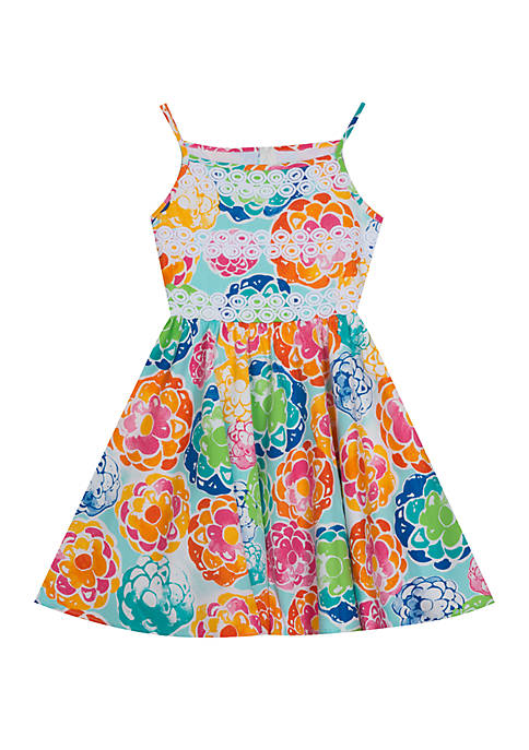 Rare Editions Toddler Girls Floral Sateen Fit and