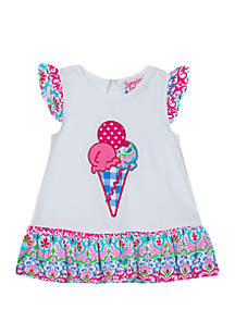 Jumping Fences by Rare Editions Toddler Girls Ice Cream Cone Top