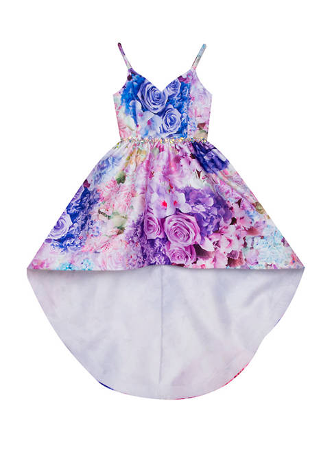 Rare Editions Toddler Girls Sleeveless High Low Floral