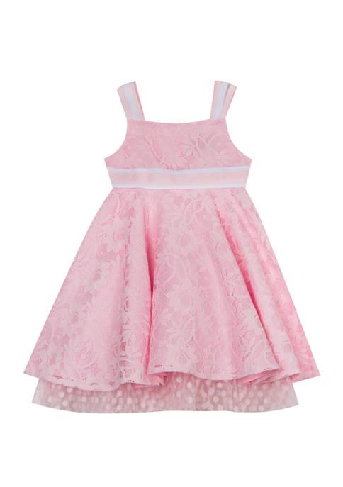 Toddler Girls Sleeveless Lace Dress