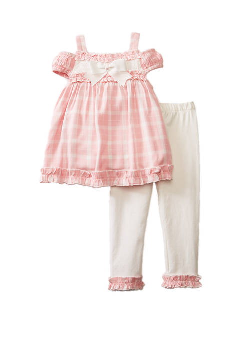 Rare Editions Toddler Girls 2 Piece Cold Shoulder