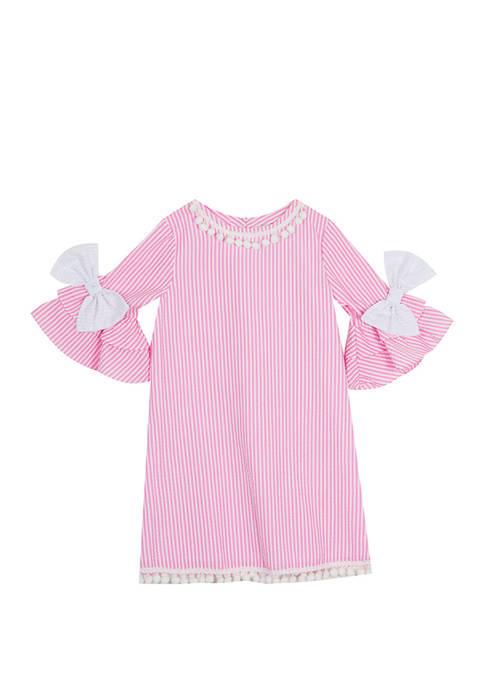 Rare Editions Toddler Girls Bell Sleeve Seersucker Dress